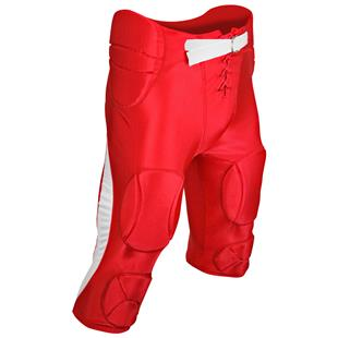 X-Large ADAMS USA Youth Practice Football Pant with 7Piece Integrated Pads Scarlet
