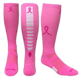 2589ac545e1 Breast Cancer Pink Ribbon Hero Knee High Socks