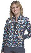 Cherokee Flexibles Womens Zip Front Jacket
