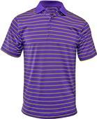 Baw Men's Wide Stripe Spandex Cool-Tek Polo