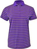 Baw Ladies Wide Stripe Cool-Tek Polo