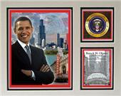 Encore Brandz Barack Obama Chicago Matted Print