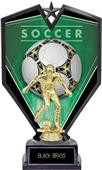 "9.25"" Spectra Male Soccer Trophy Marble Base"
