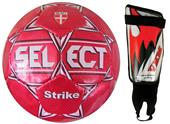 Select Strike Soccer Ball Size 3 & Shin Guards KIT