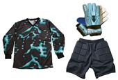 Adult Youth Soccer Goalie Jersey Gloves Shorts KIT