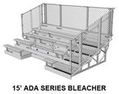 NRS ADA Series 5,8,10 Row Aluminum Bleachers Chainlink Guardrail