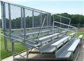 NRS 5 Row DELUXE Galvanized Non-Elevated Bleacher Chain-link Guardrail