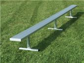 NRS Portable Bench W/O Backrest Galvanized Legs (72 HOUR FAST SHIP)