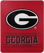 "Northwest NCAA Georgia ""Control"" Fleece Throw"