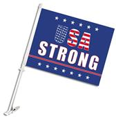 "BSI USA Strong 2-Sided 11"" x 14"" Car Flag"