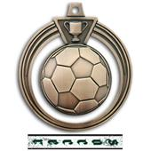 "Hasty Awards 2.5"" Eclipse Soccer Medals M-707S"