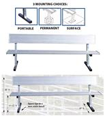 Players Aluminum Bench With Backrests 3 Sizes