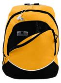 Augusta Zipper Front Tri-Color Small Backpack