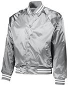 Augusta Satin Baseball Jacket/Striped Trim
