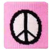 Red Lion Pink Peace Sign Wristbands  - Closeout