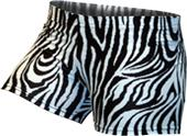 Gem Gear Blk/White Compression Zebra Prints Shorts