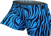 Gem Gear Turquoise Compression Zebra Prints Shorts