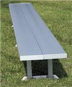Double Plank Portable Aluminum Benches