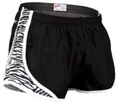 Soffe Juniors Zebra Print Team Shorty Shorts