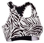 Soffe Junior Zebra Print Sports Bras
