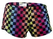 "Soffe Teeny Tiny 2.5"" Inseam Checker Print Shorts"