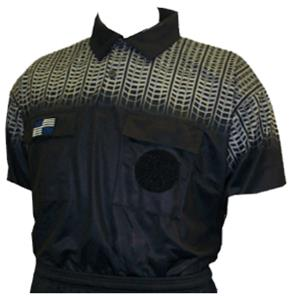 c1a230f7031 NISOA College Referee Black Grid SS Shirts - Soccer Equipment and Gear
