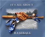 All About Baseball Slate Blue tshirts