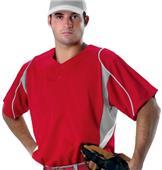 Alleson 529 2-Button eXtreme Mesh Baseball Jerseys