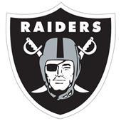 "NFL Oakland Raiders Logo 12"" Die Cut Car Magnet"