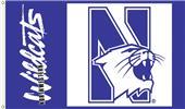 COLLEGIATE Northwestern Wildcats 3' x 5' Flag