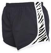 Boxercraft Girl's Velocity Zebra Print Shorts