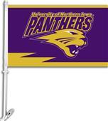 "COLLEGIATE Northern Iowa 11"" x 18"" Car Flag"
