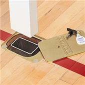 "Porter Rectangular Floor Sleeve-Fits 4"" X 2"" Post"