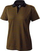 Ladies Short Sleeve Helix Engineered Stripe Polo