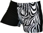 Gem Gear 4 Panel Black and White Zebra Shorts