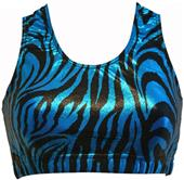 Gem Gear Turquoise Metallic Zebra Racer Back Bra