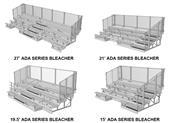 NRS ADA Series 5 Row Bleachers Chainlink Guardrail