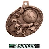 Hasty Awards Bust Out 3D Soccer Medal M-755S