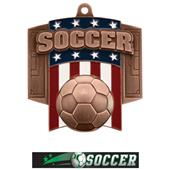 Hasty Awards Patriot Soccer Medal M-776S