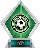 Eclipse Soccer Green Diamond Ice Trophy