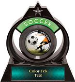 """Hasty Awards Eclipse 6"""" P.R. Male Soccer Trophy"""