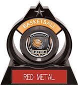 "Hasty Awards Eclipse 6"" Shield Basketball Trophy"