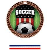 Hasty Crest Medal Soccer Patriot Insert M-8650S