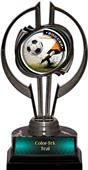 "Awards Black Hurricane 7"" PR Male Soccer Trophy"