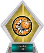 Bust-Out Basketball Yellow Diamond Ice Trophy