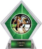 P.R. Male Basketball Green Diamond Ice Trophy
