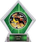 P.R. Female Basketball Green Diamond Ice Trophy