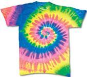 Dyenomite Fluorescent Spiral Tie Dye SS T-Shirts