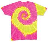 Dyenomite Fluorescent Wave Tie Dye SS Tee Shirts