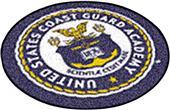 """Fan Mats US Coast Guard Academy Seal 27"""" Round Mat"""